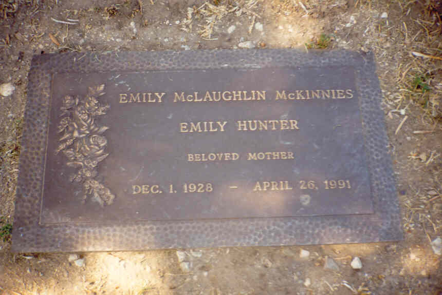 Emily McLaughlin actress grave