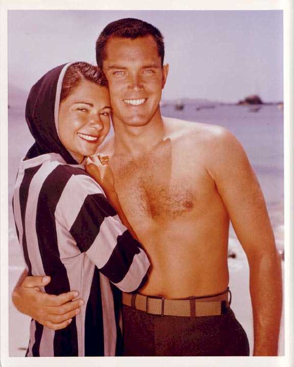 Jeffrey Hunter  Dusty Bartlett  wife