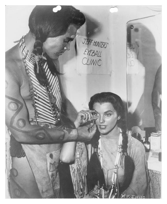 White Feather  Jeffrey Hunter  Debra Paget