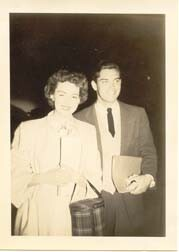 Jeffrey Hunter  Barbara Rush  wife