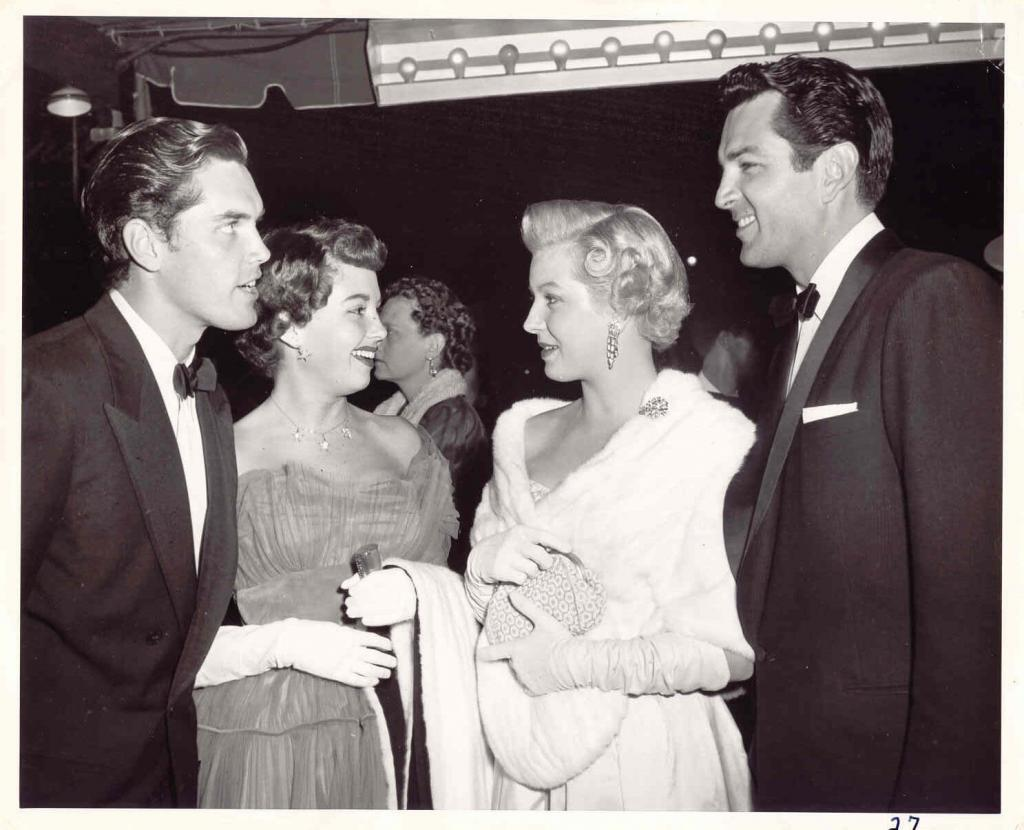 Jeffrey Hunter  Barbara Rush  wife  Lana Turner