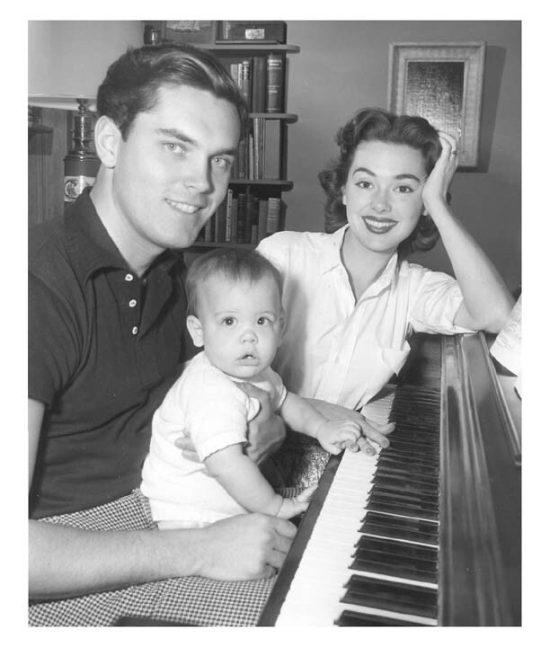 Jeffrey Hunter  Barbara Rush  wife  son Chris