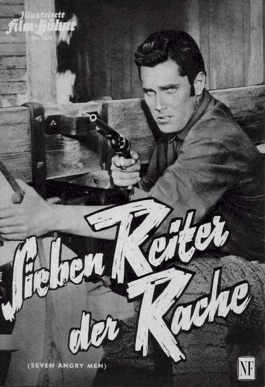 Seven Angry Men   Jeffrey Hunter  German movie program