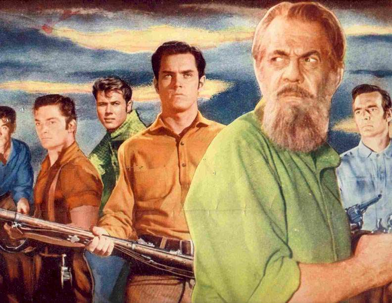 Seven Angry Men Jeffrey Hunter Raymond Massey Dennis Weaver