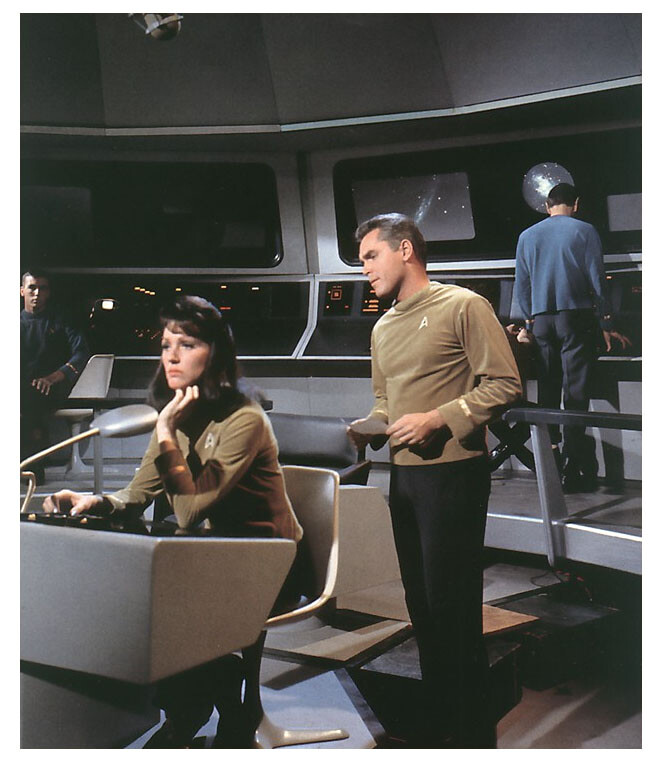 Jeffrey Hunter  Captain Christopher Pike  Star Trek  Majel Barrett