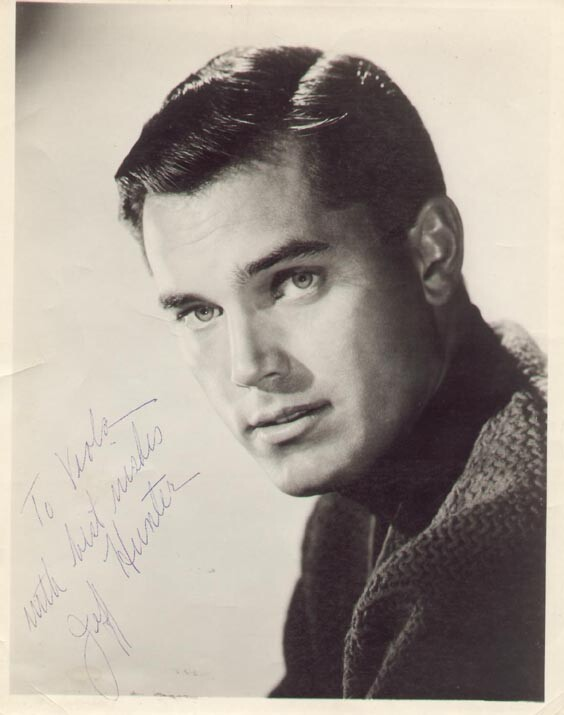 Jeffrey Hunter  autographed photo